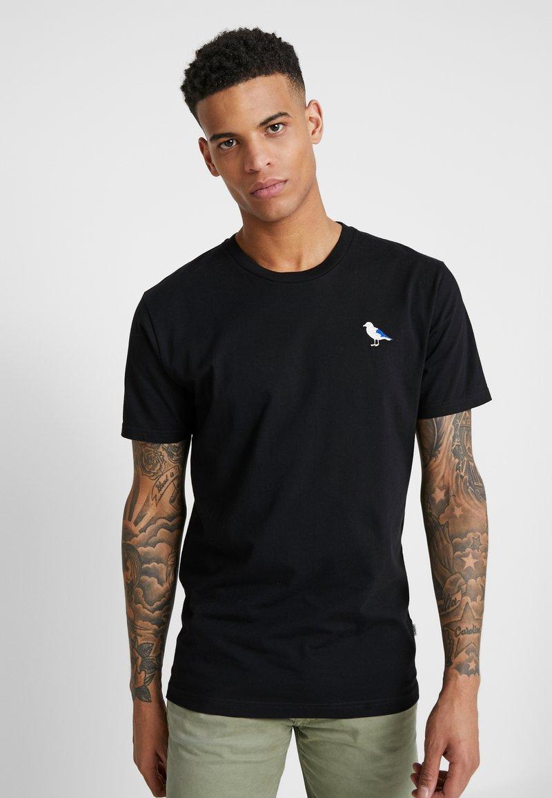 Cleptomanicx - EMBRO GULL - T-shirt - bas - black