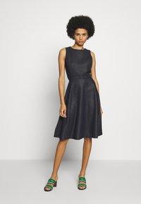 Lauren Ralph Lauren - WOODSTCK FOIL DRESS - Day dress - navy/silver - 0