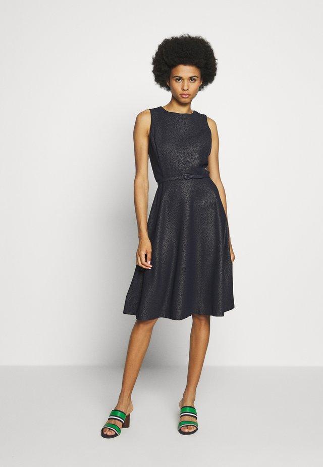 WOODSTCK FOIL DRESS - Vestido informal - navy/silver