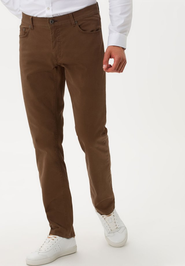STYLE COOPER FANCY - Straight leg jeans - nut