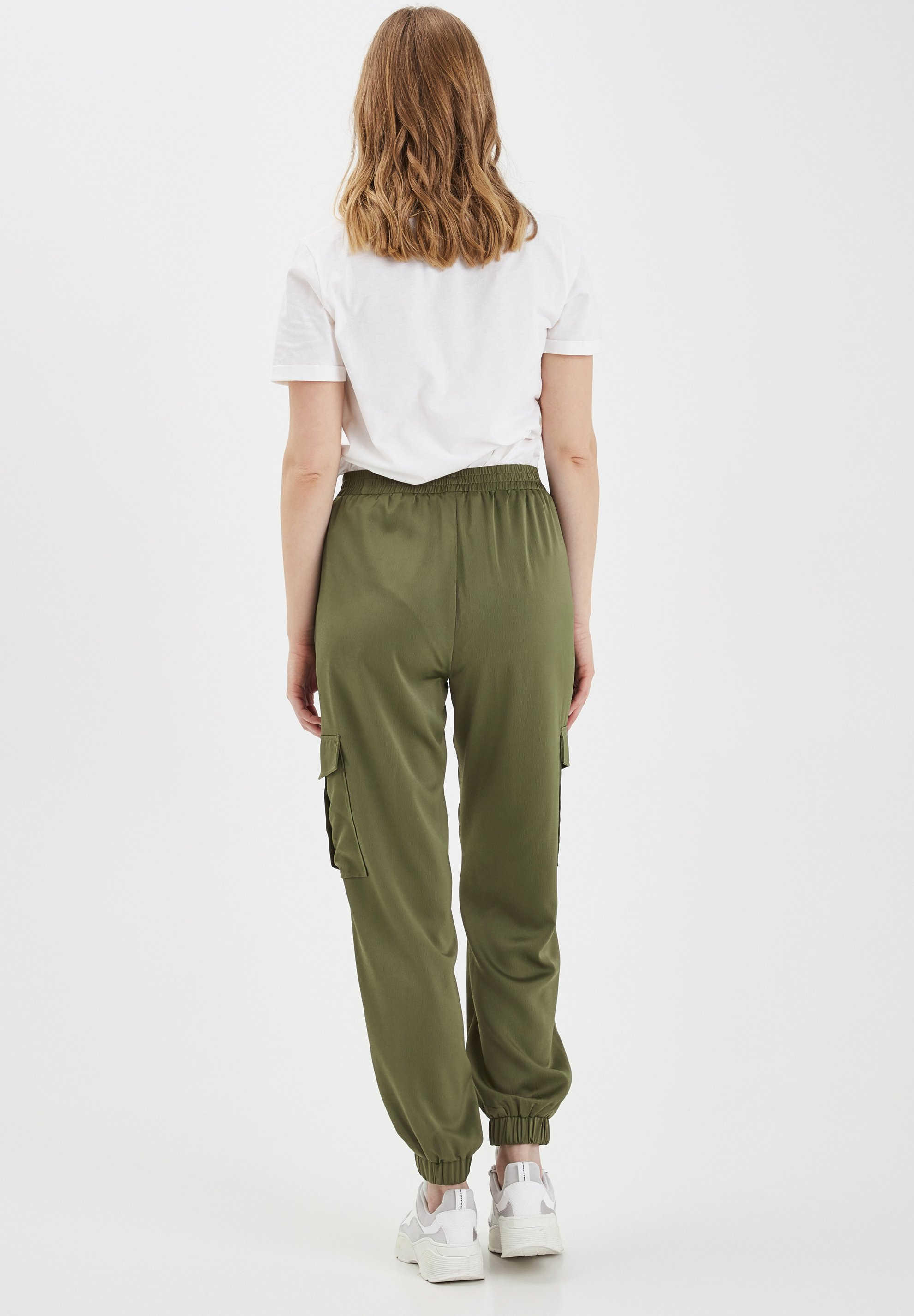 b.young BXJUNOL PANTS W. POCKETS WOVEN - Pantalon classique -  green