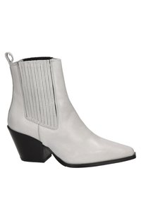 Nelson - Cowboy/biker ankle boot - ecru - 5