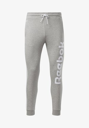 TRAINING ESSENTIALS LINEAR LOGO JOGGERS - Pantalones deportivos - grey
