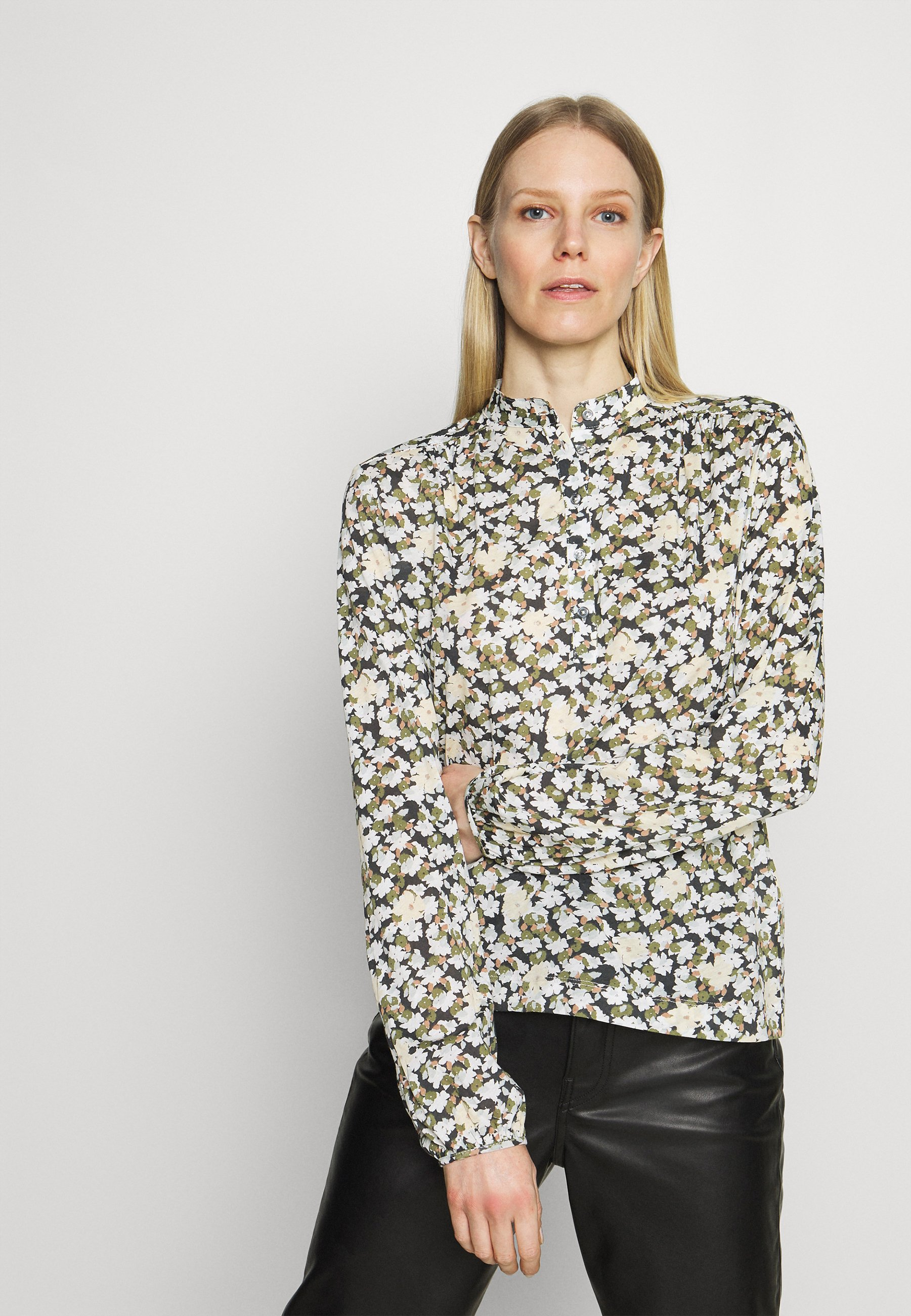 Women LONG SLEEVE PLACKET - Long sleeved top