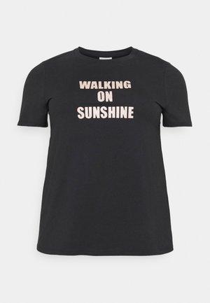 TIVALIVA - Print T-shirt - black/gold