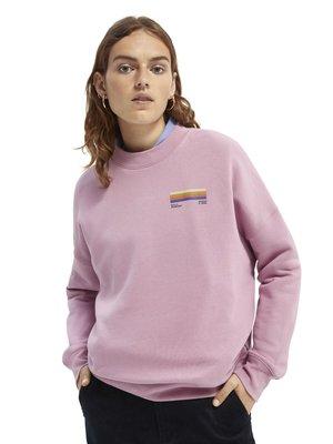 CREWNECK WITH GRAPHIC - Sweatshirt - mauve