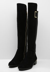 Calvin Klein - CYLAN - Over-the-knee boots - black suede - 3
