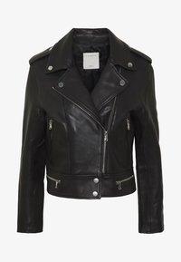 sandro - SIOUXIE - Leather jacket - noir - 3