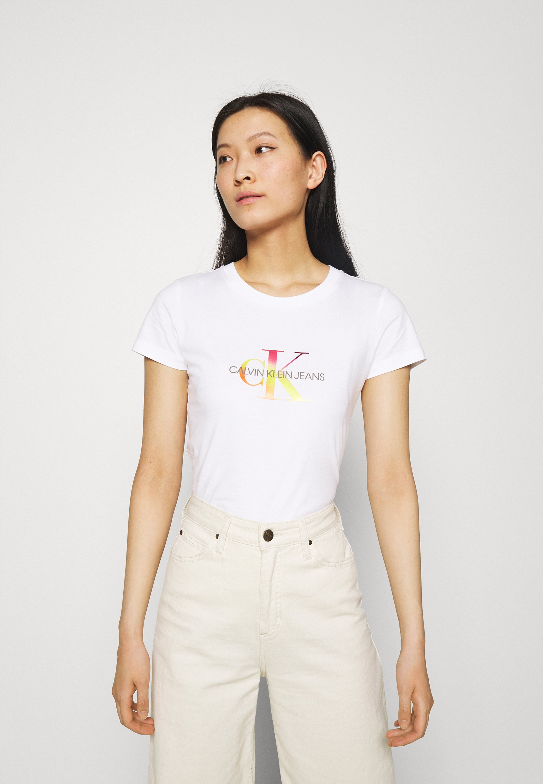 Women SEASONAL FILLED MONOGRAM TEE - Print T-shirt