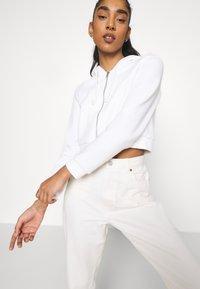 Monki - Zip-up sweatshirt - offwhite light - 3