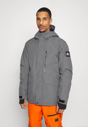 MISSION SOLI - Kurtka snowboardowa - heather grey