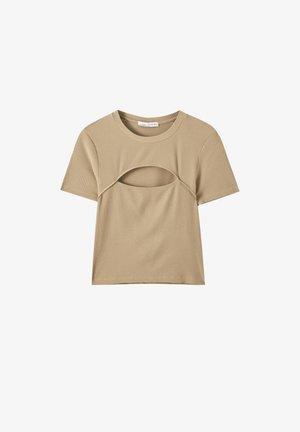 T-Shirt print - light brown