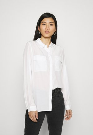 Basic Blouse with front pockets - Camisa - offwhite