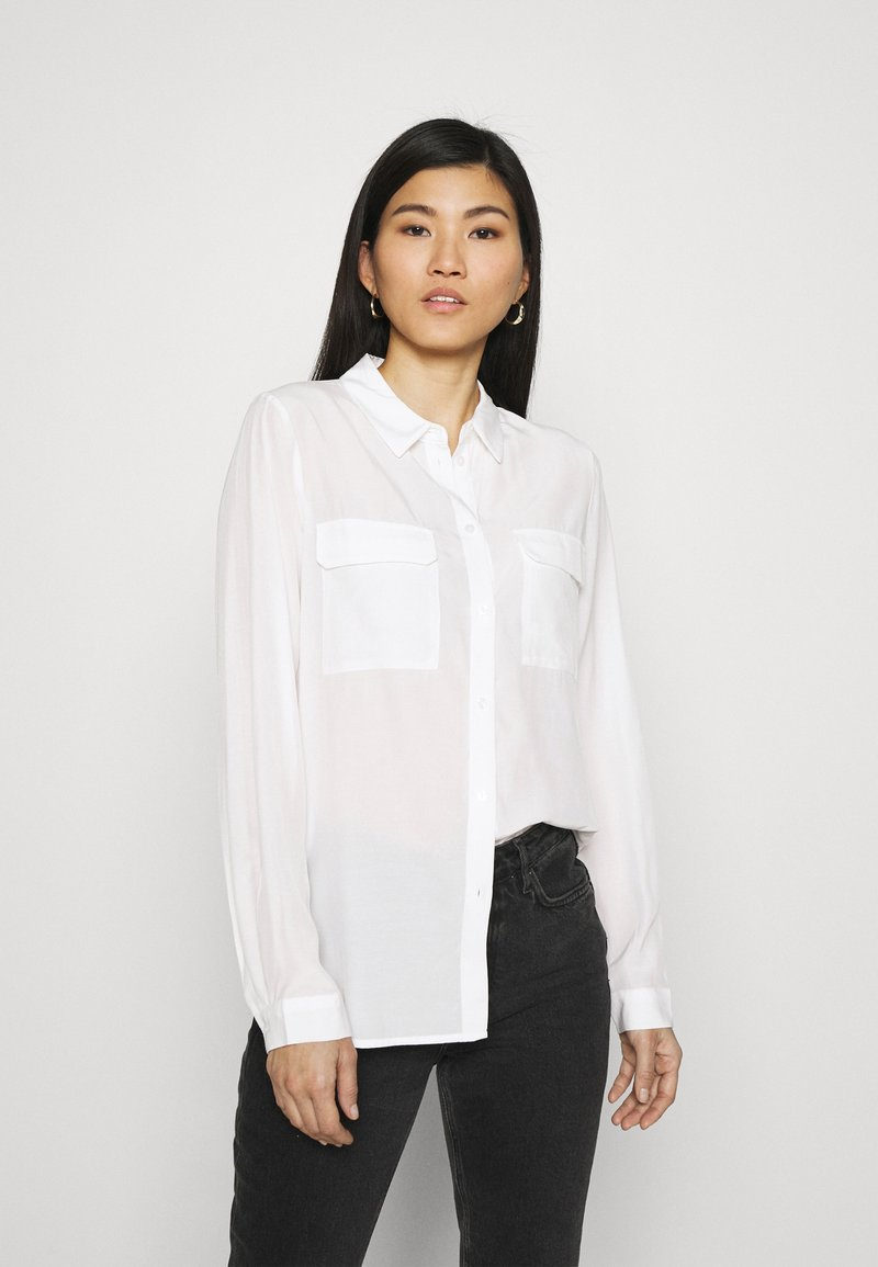 Anna Field - Basic Blouse with front pockets - Button-down blouse - offwhite