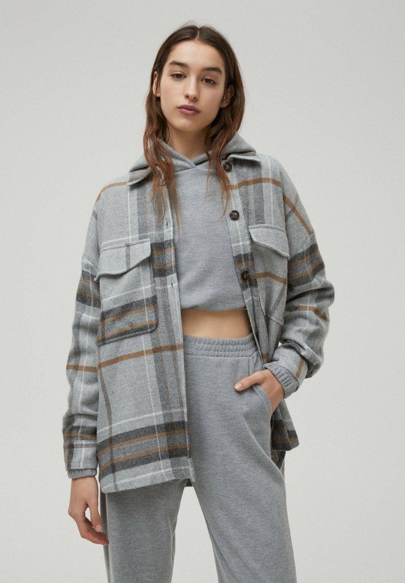 PULL&BEAR - Košile - mottled grey