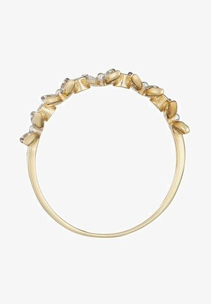 9K YELLOW GOLD RING CERTIFIED 24 DIAMONDS HP1 20 DIAMONDS 0.11 CT AND 4 DIAMONDS 0.42 CT - Bague - yellow