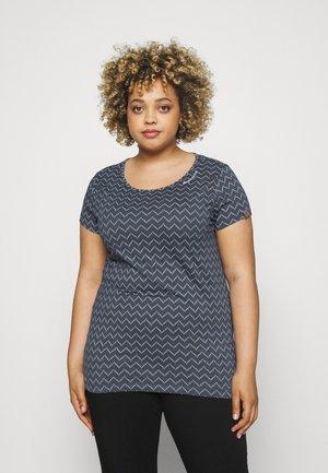 ZIG ZAG - T-shirt imprimé - denim blue