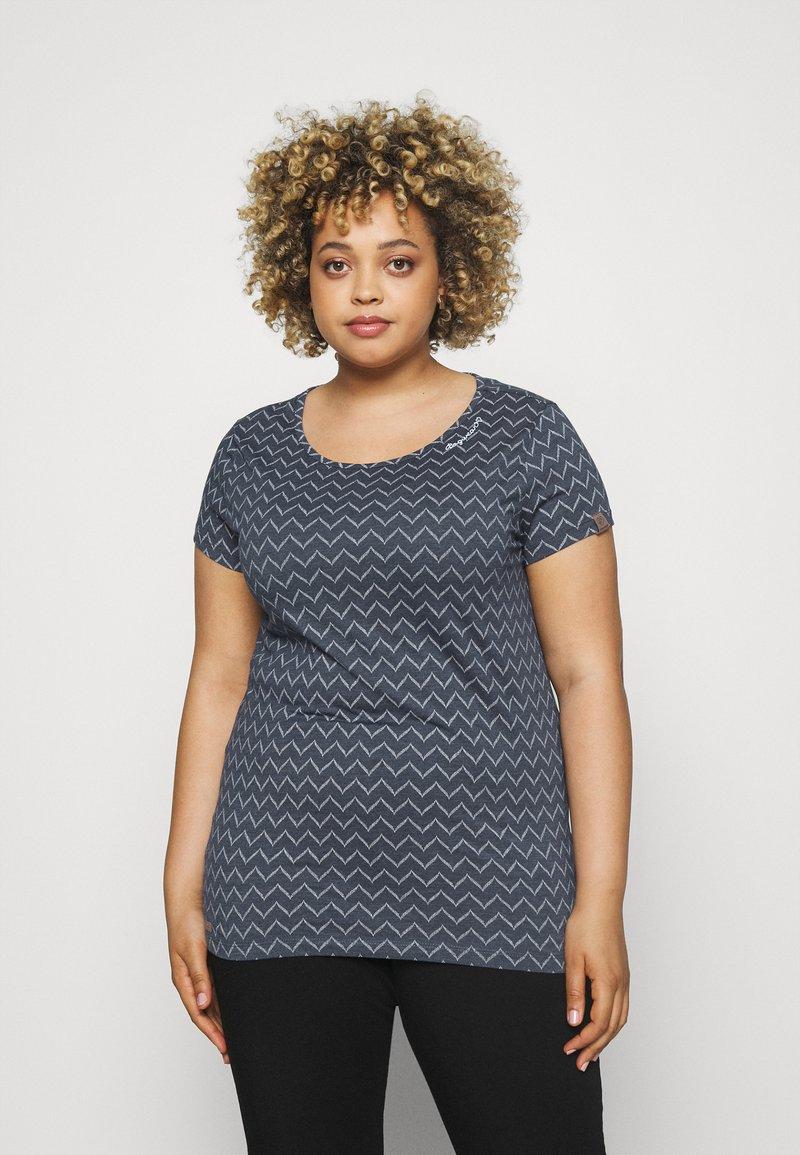 Ragwear Plus - ZIG ZAG - Print T-shirt - denim blue