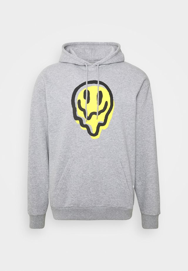 MELTER HOOD - Hoodie - heather grey