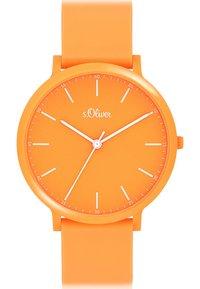 s.Oliver - S.OLIVER UNISEX-UHREN ANALOG QUARZ - Watch - orange - 0