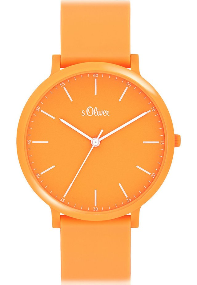 S.OLIVER UNISEX-UHREN ANALOG QUARZ - Watch - orange