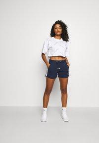 Fila - JAMILIA WIDE CROPPED TEE - Print T-shirt - bright white - 1