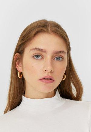 4ER-SEIT KREOLEN MIT KUGELN  - Earrings - yellow