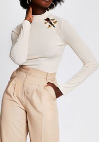 River Island - Long sleeved top - cream - 0