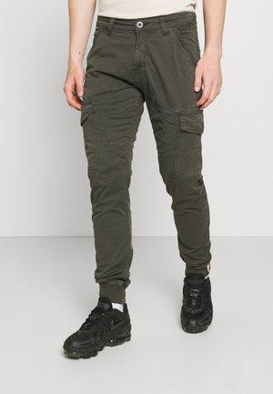 SPARK - Pantalon cargo - greyblack