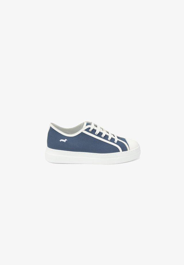 Sneakers basse - blu fluo
