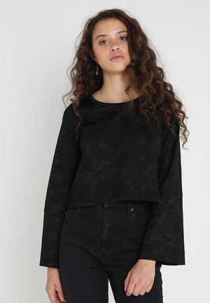 LADIES JACQUARD CAMO - Long sleeved top - black