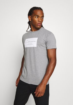BOX LOGO TEE - Print T-shirt - grey