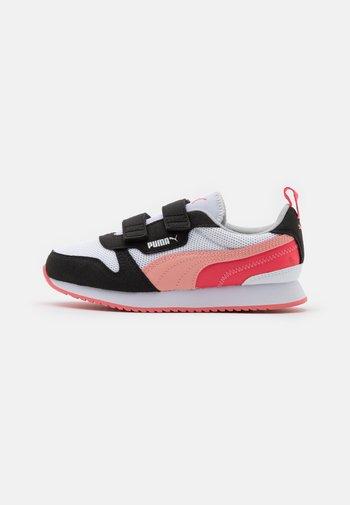 R78 - Sneakers basse - white/apricot blush/black