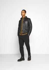 AllSaints - CLAY JACKET - Leather jacket - black - 1