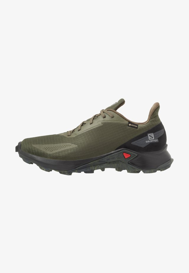 ALPHACROSS BLAST GTX - Trail running shoes - olive night/black/ebony