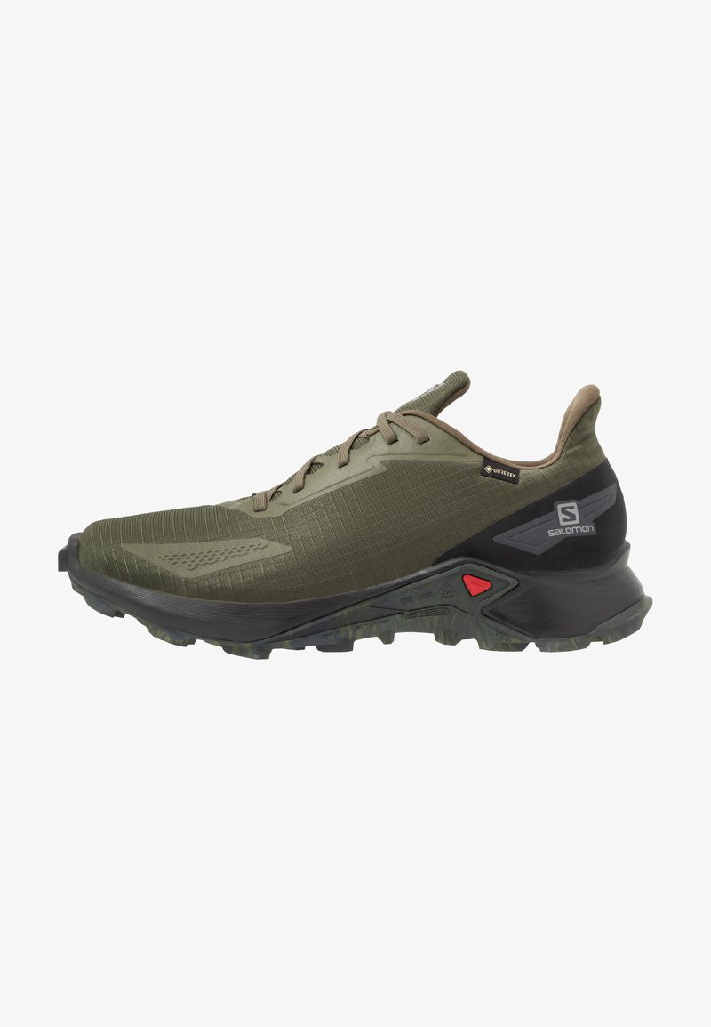 Salomon - ALPHACROSS BLAST GTX - Obuwie do biegania Szlak - olive night/black/ebony