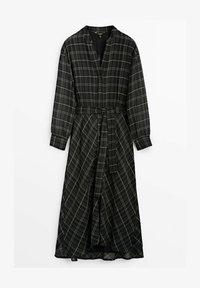 Massimo Dutti - KARIERTES - Maxiklänning - black - 1