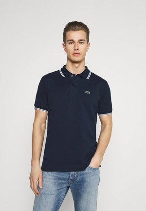 Polo shirt - navy blue/white