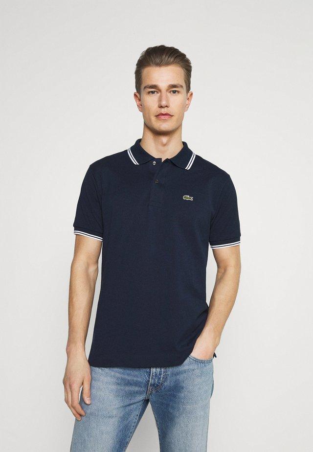 Poloshirt - navy blue/white