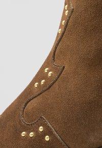 Lazamani - Cowboy/biker ankle boot - tan - 2