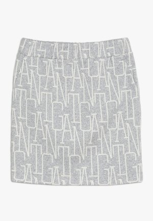 ALLOVER SKIRT - Mini skirt - light grey melange