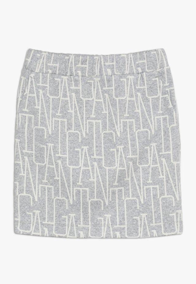 ALLOVER SKIRT - Mini skirt - light grey melange