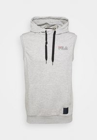 Fila - LUX SLEEVELESS HOODIE - Sweat à capuche - light grey - 4