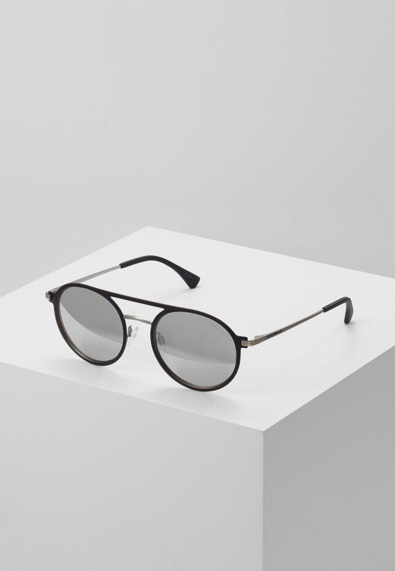 Emporio Armani - Sunglasses - matte black/matte silver