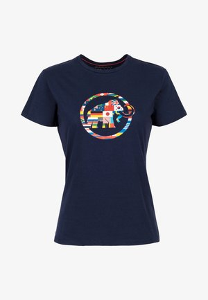 NATIONS - Print T-shirt - peacoat