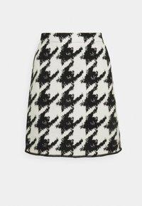 Opus - RAVENNA CONTRAST - Mini skirt - black - 0