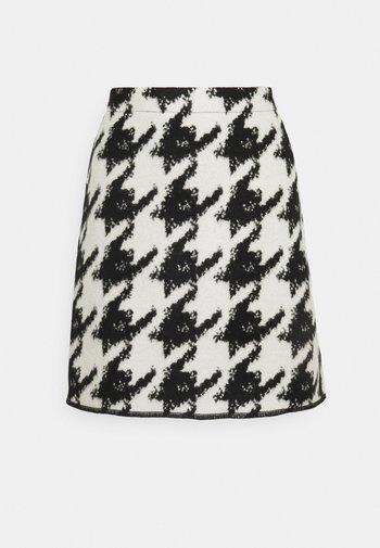 RAVENNA CONTRAST - Mini skirt - black