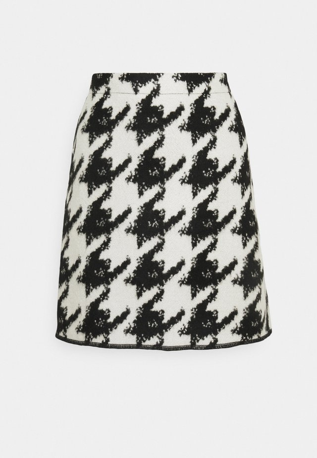 RAVENNA CONTRAST - Mini skirt - black