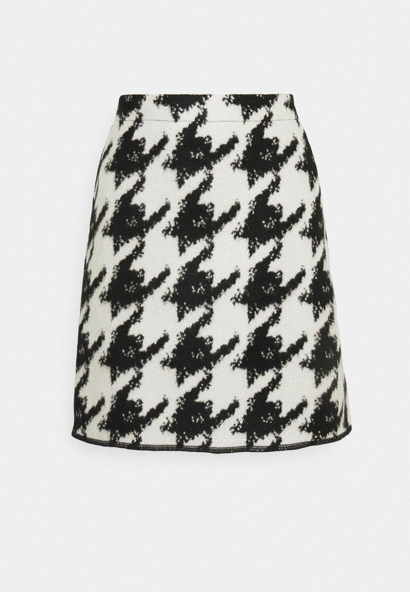 Opus - RAVENNA CONTRAST - Mini skirt - black