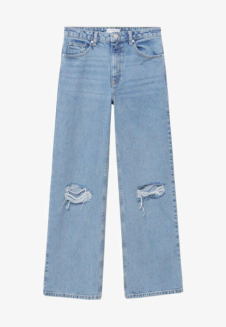 Mango - Straight leg jeans - hellblau